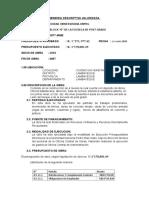 MEMORIA FINAL DE OBRA - ESCUELA DE POST GRADO BLOCK  D