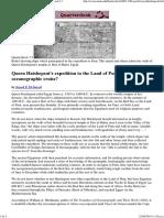 Hatshepsut and Oceanography..