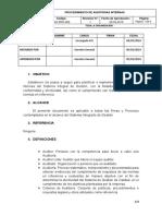 SIG-PRO-009 Auditorias internas