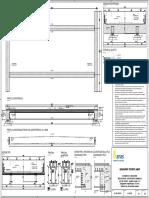 Disegno n.1B_Soluzione Multi-trave Con Profilo Laminato 2x2 HL1000M-Qualità Acciaio S355-Traverso in c.A
