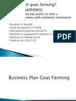 Business Plan Goat Farming