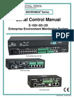 Serial Control Manual E15D_5D_2D Enterpise Environment Monitoring System