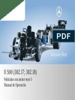 O 500 (382.17;382.18) Vehículos con motor euro 5