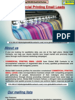 Commercial Printing EmailLeads