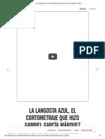 La langosta azul, el cortometraje que hizo Gabriel García Márquez -