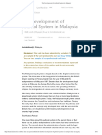 The Development of Judicial System in Malaysia