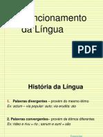 Funcionamento da Língua