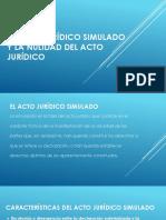 EL ACTO JURIDICO SIMULADO Y LA NULIDAD DEL ACTO JURIDICO