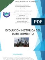 EXPOCISION EVOLUCION DEL MANTENIMIENTO