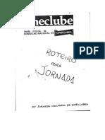 Roteiro Jornada Nacional de Cineclubes em Campo Grande - MS,  1981