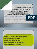 ANALISIS DE LA GUÍA METODOLÓGICA PARA LA ELABORACIÓN DE LOS INSTRUMENTOS