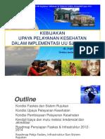 dr Supriyantoro SpP MARS_ Kebijakan Upaya Pelayanan Kesehatan