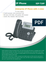 Yealink SIP-T20P Entey Level IP Phone Datasheet