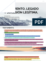 TESTAMENTO, LEGADO Y SUCESIÓN LEGITIMA.