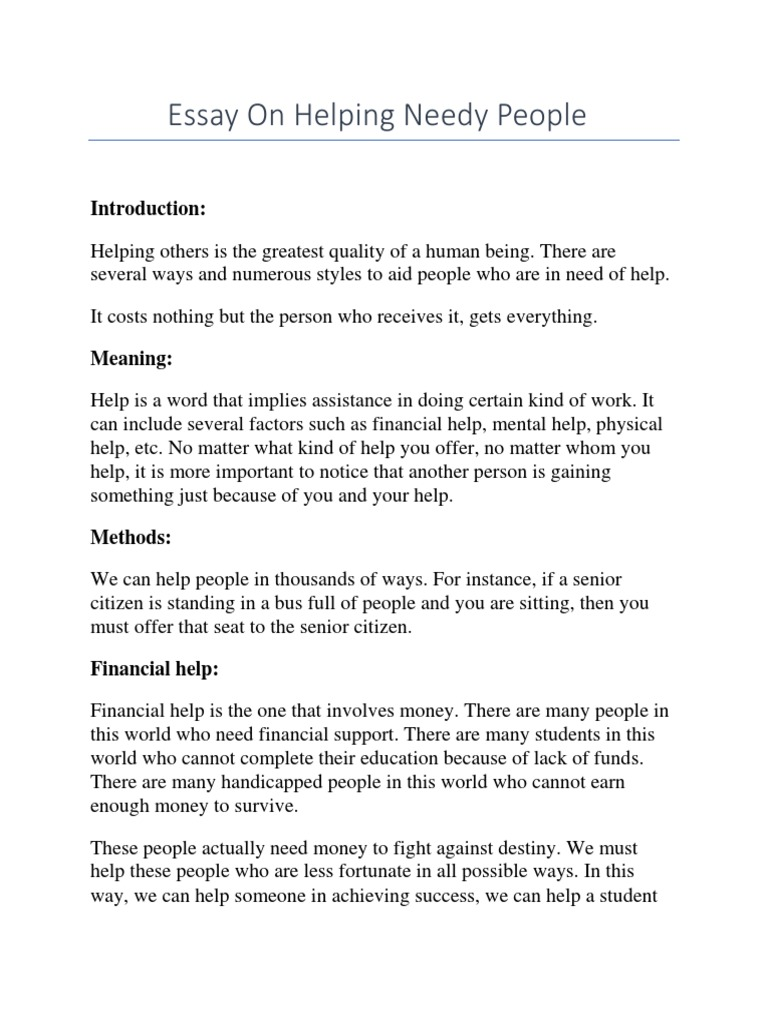 Help others essay cheap dissertation writing