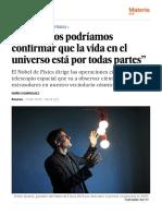 """Didier Queloz- """"En 50 años podríamos confirmar que la vida en el universo está por todas partes"""" - Ciencia - EL PAÍS"""