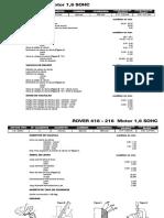 ROVER 416 - 216 Motor 1,6 SOHC (2)