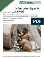 ¿Cómo se define la inteligencia en los seres vivos- - Ciencia - EL PAÍS
