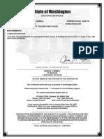 wa certificate