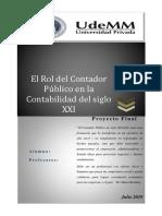 El Rol del Contador Publico en la Contabilidad del S. XXI