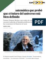 Yvonne Choquet-Bruhat- La física matemática que probó que el futuro del universo está bien definido - Ciencia - EL PAÍS