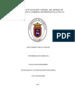 PROPUESTA DEL PROYECTO ACTUALIZACIÓN Y MEJORA  DEL SISTEMA DE AIRE COMPRIMIDO