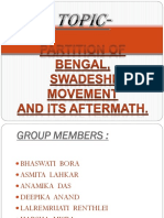 Partition of Bengal, Swadeshi Movement and its aftermath