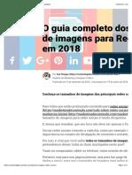 Tamanho de Imagens para Redes Sociais 2018
