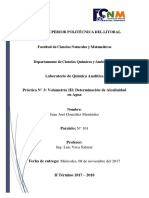 Práctica 3 - Química Analítica