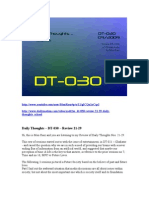 DT-030 - Review 21-29 - Daily Thoughts