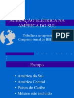 Aceração elétrica na América do Sul