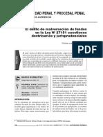 EL DELITO DE MALVERSACIÓN DE FONDOS EN LA LEY Nº 27151