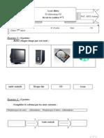 Devoir de Synthèse N°1 - Informatique - 7ème (2009-2010) (1)