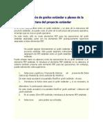 Asignación de grafos estándar a planes de la estructura del proyecto estándar