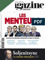 Le Nouveau Magazine Littéraire - Le Menteurs