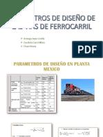 PARAMETROS DE DISEÑO DE LAS VIAS DE FERROCARRIL