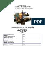 Programa Construcción de Pozo 12-04-2017