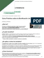 Junta de Andalucía - Guía Práctica sobre la Bonificación de Matrícula