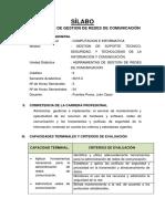SEGUNDO SEMETRES SÍLABO DE HERRAMIENTAS DE GESTION DE REDES