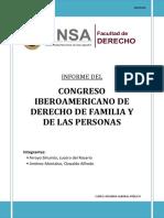 CONGRESO IBEROAMERICANO DE DERECHO DE FAMILIA Y DE LAS PERSONAS