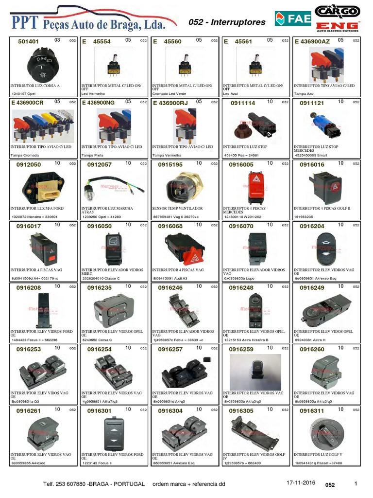 FAE 40825 Interruptores azul claro