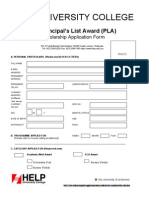 Pla Scholarship Application Form 2006