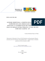 Pinho, C. M. D. Análise orientada a objetos de imagens de alta resolução espacial aplicada à classificação de cobertura do solo no espaço intra-urbano