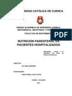 Nutrición parenteral en pacientes hospitalizados