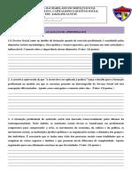 PROVA DA DISCIPLINA DE OFICINA DE TEORIA E PRATICA DO SERVIÃ_O SOCIAL