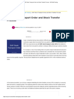 SAP Stock Transport Order and Stock Transfer Process - SAP MM Training