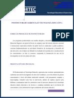PROGRAMA DE POSTDOCTORADO EN TECNOLOGÍA EDUCATIVA
