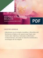 HISTORIA Y FILOSOFÍA DE LA RELIGIÓN