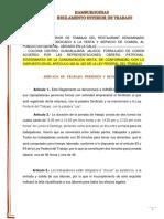 Modelo de reglamento interior de trabajo / Restaurant
