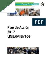 SENA Plan de Acción 2017 Lineamientos